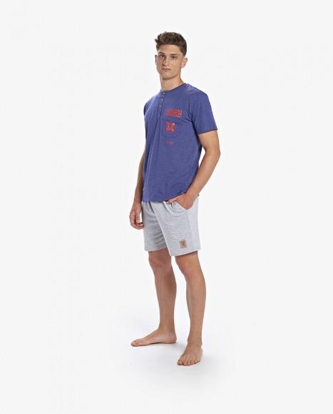 Pijama corto de hombre de...