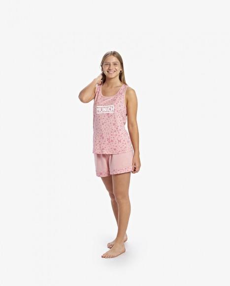 Pijama corto de mujer de...